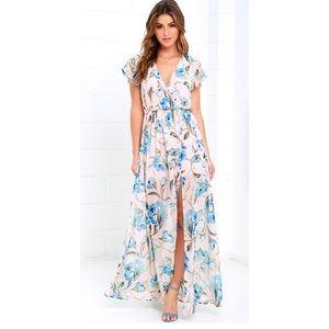 Floral short sleeve maxi dress